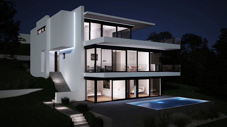 Piscine moderne par Karl Kaffenberger Architektur | Einrichtung Moderne