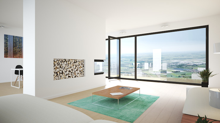 Salon moderne par Karl Kaffenberger Architektur | Einrichtung Moderne