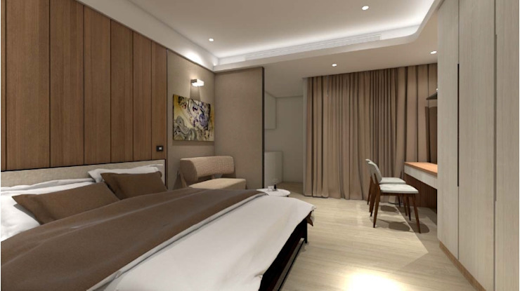 Phòng ngủ phong cách hiện đại bởi c+室內設計工作室 Hiện đại