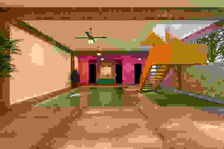 Alberca - Escalera: Albercas de estilo  por Laboratorio Mexicano de Arquitectura,