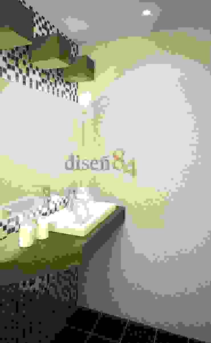 現代浴室設計點子、靈感&圖片 根據 MSG Architecture SA DE CV 現代風 塑木複合材料