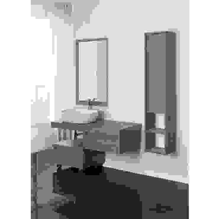 Arredamento Bagno Lavabo A Colonna.Arredo Bagno 120 Cm Con Mensola Lavabo D Appoggio E Specchio Di