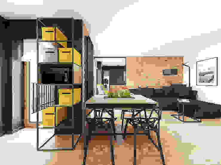 Śmiałego | Lublin: styl , w kategorii Jadalnia zaprojektowany przez H+ Architektura,Nowoczesny