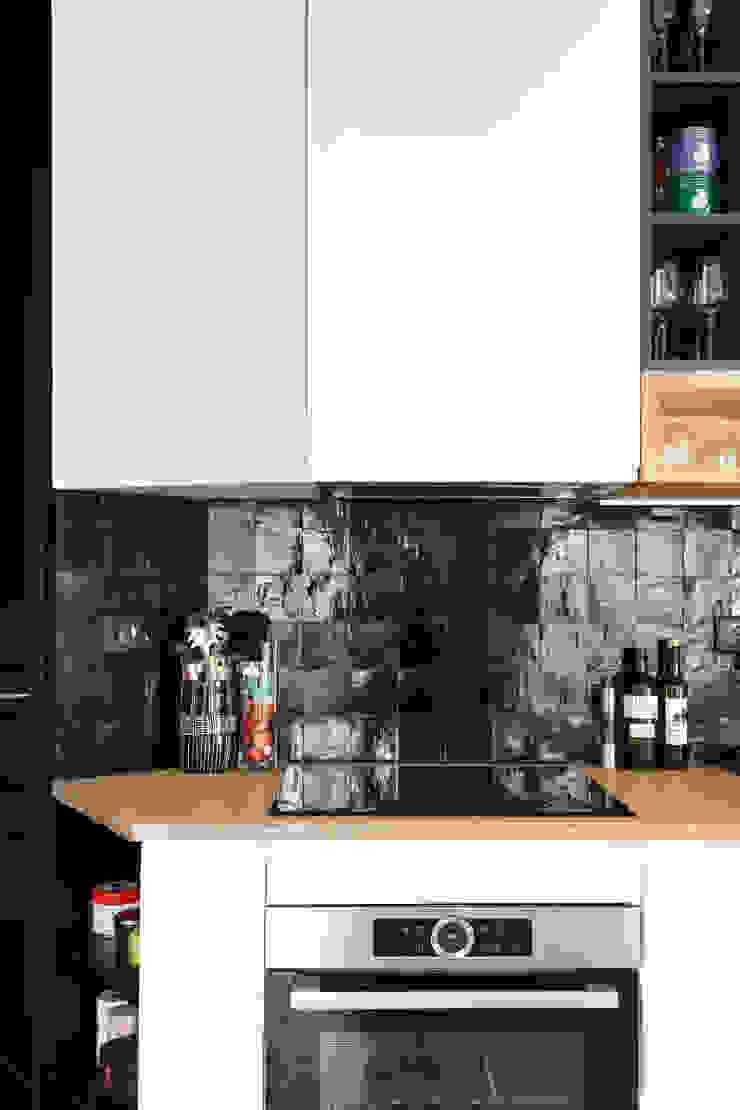 zelliges noirs cuisine par Mon Plan d'Appart Scandinave