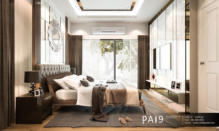Project : Perfect Place 4 – Ratchapruek PAI9 Interior Design Studio ห้องนอนขนาดเล็ก