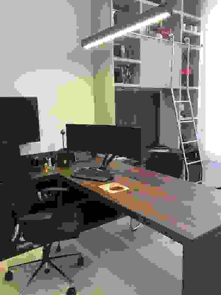 Lucia Helena Bellini arquitetura e interiores Modern study/office MDF