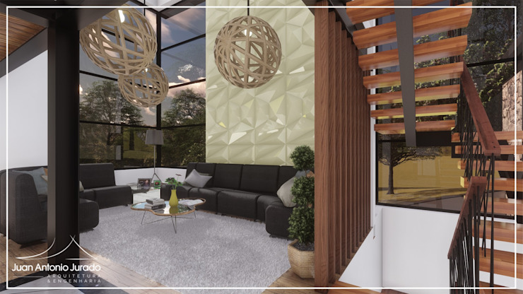 Livings modernos: Ideas, imágenes y decoración de Juan Jurado Arquitetura & Engenharia Moderno Vidrio