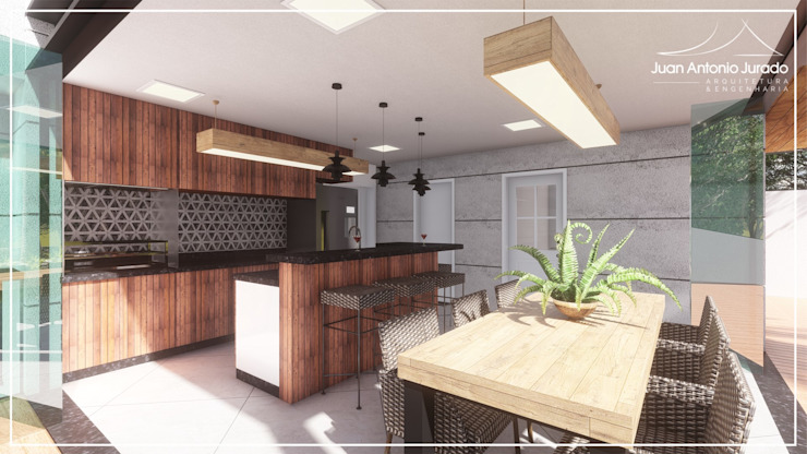 من Juan Jurado Arquitetura & Engenharia ريفي خشب Wood effect