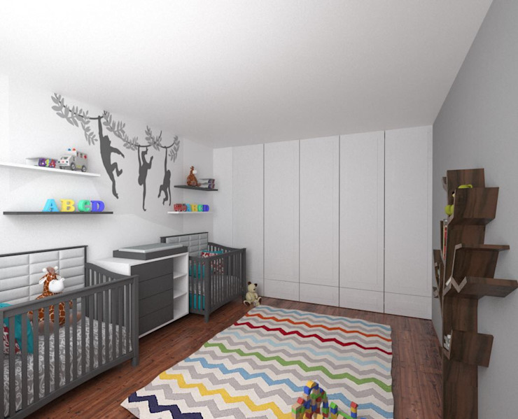 RECAMARA INFANTIL : Recámaras para bebés de estilo  por PLARIST, Moderno Madera Acabado en madera