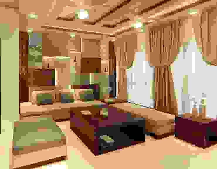 living room design Modern living room by Manglam Decor Modern Engineered Wood Transparent