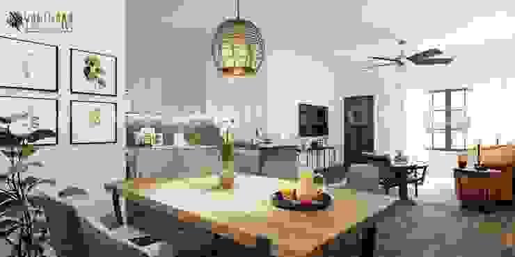Yantram Architectural Animation Design Studio Corporation Cocinas integrales Blanco