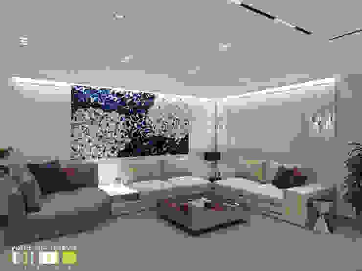 Salas de estilo ecléctico de Мастерская интерьера Юлии Шевелевой Ecléctico
