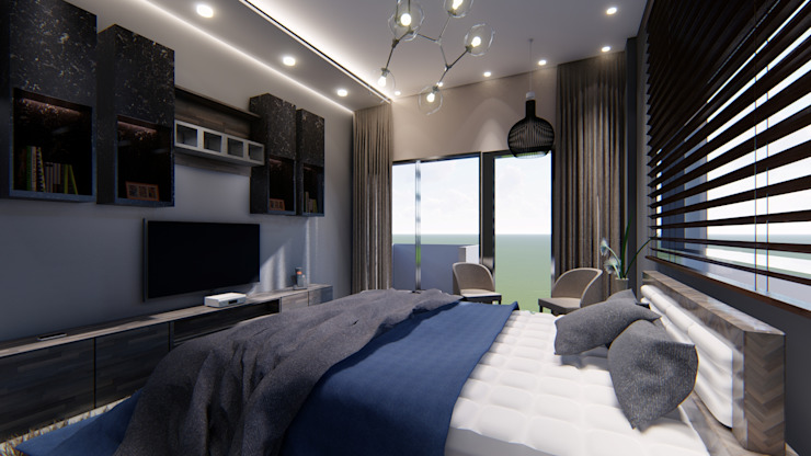MASTER BEDROOM: modern  by Manglam Decor,Modern