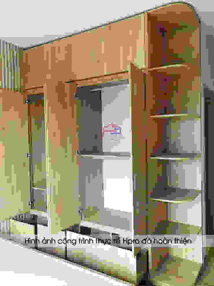 Hình ảnh thực tế không gian phòng ngủ master nhà anh Nam - Ecopark sau khi hoàn thành thi công: hiện đại  by Nội thất Hpro, Hiện đại