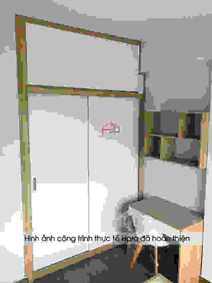 Hình ảnh thực tế không gian phòng ngủ của bé nhà anh Nam - Ecopark: hiện đại  by Nội thất Hpro, Hiện đại