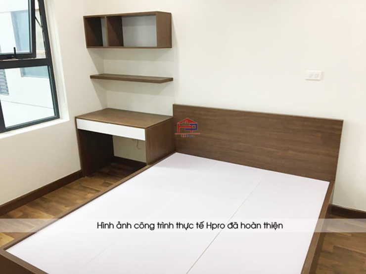 Hình ảnh thực tế không gian phòng ngủ bé trai nhà chị Thắng - Goldmark City: hiện đại  by Nội thất Hpro, Hiện đại