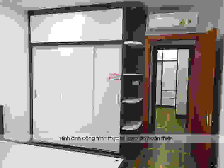 Ảnh chụp thực tế không gian phòng ngủ bé trai nhà chị Thắng - Goldmark City: hiện đại  by Nội thất Hpro, Hiện đại