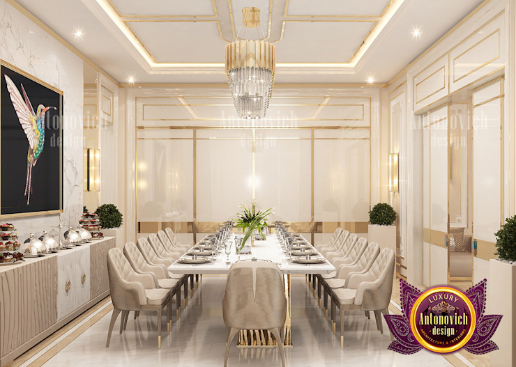 Superb Dining Room and the Importance of Colors by Luxury Antonovich Design