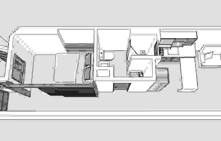 Diseño en 3D de Remodelar Proyectos Integrales Moderno