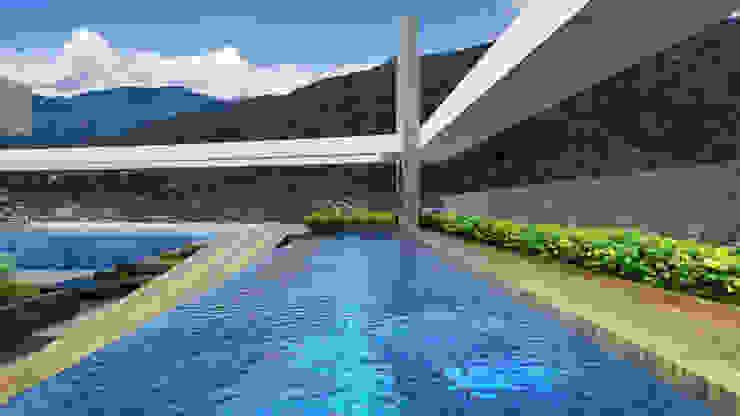CARRIL DE NADO Albercas modernas de Diseños y construcciones Dyco Moderno