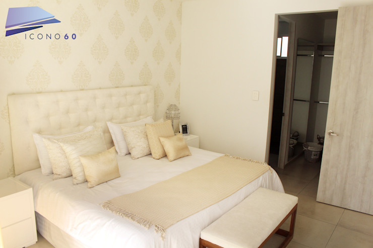 ALCOBA PRINCIPAL Dormitorios modernos de Diseños y construcciones Dyco Moderno