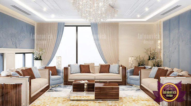 Color Combinations in Living and Dining Rooms by Luxury Antonovich Design