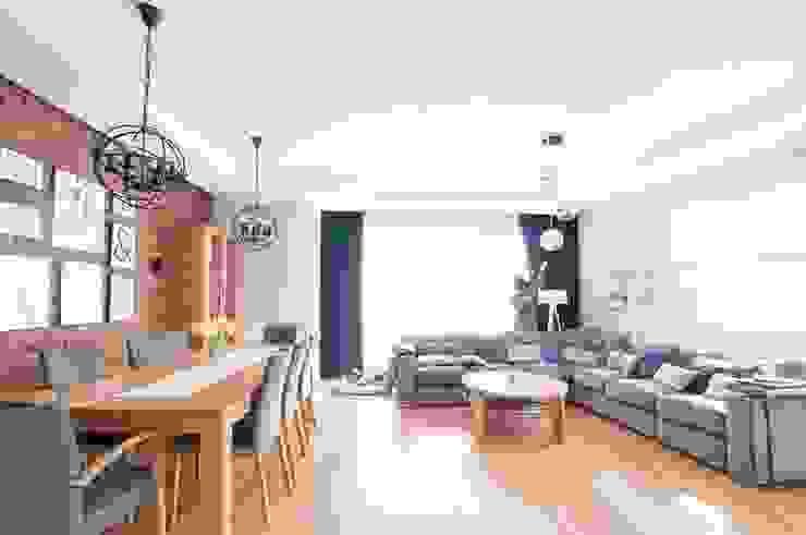 Martyna Szulist Moderne Wohnzimmer Holz Grau