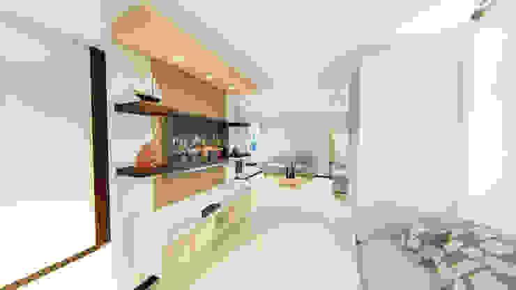 REMODELACION APTO Salas modernas de SEQUOIA. Projects & Designs Moderno
