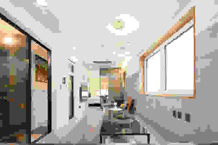 마포구 대흥동 상가주택 모던스타일 거실 by 주택설계전문 디자인그룹 홈스타일토토 모던 타일