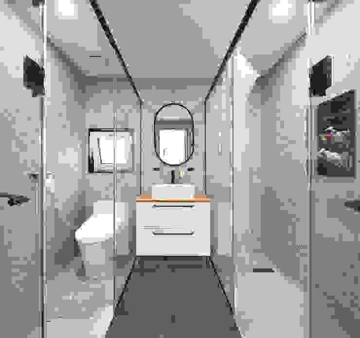 주택설계전문 디자인그룹 홈스타일토토 Modern bathroom Tiles White