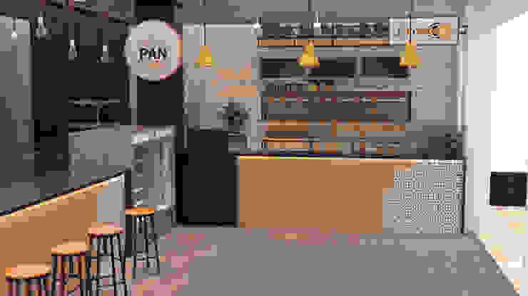 Diseño de panadería para PAN COMIDO sede colseguros. de Nuvú - Lideres en espacios comerciales.