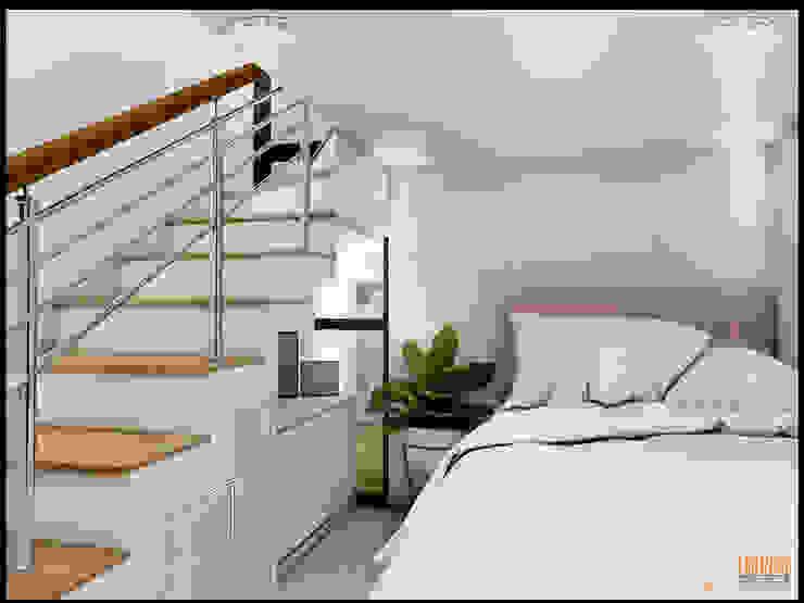 CV Leilinor Architect ห้องนอนขนาดเล็ก White