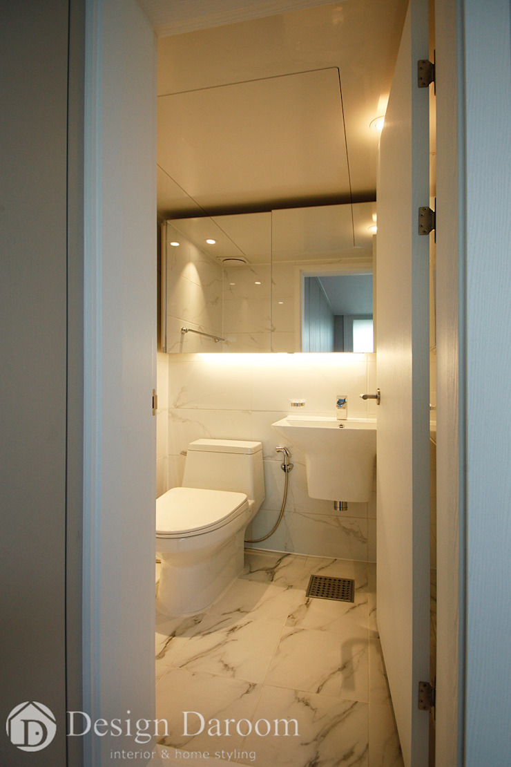 쌍문동 신원2차 37py 안방욕실 모던스타일 욕실 by Design Daroom 디자인다룸 모던