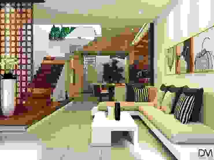 Nguyen Phong Thiết kế nội thất Livings de estilo escandinavo Cobre/Bronce/Latón Beige