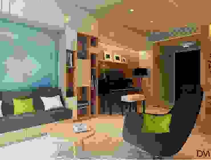 Salones escandinavos de Nguyen Phong Thiết kế nội thất Escandinavo Tablero DM
