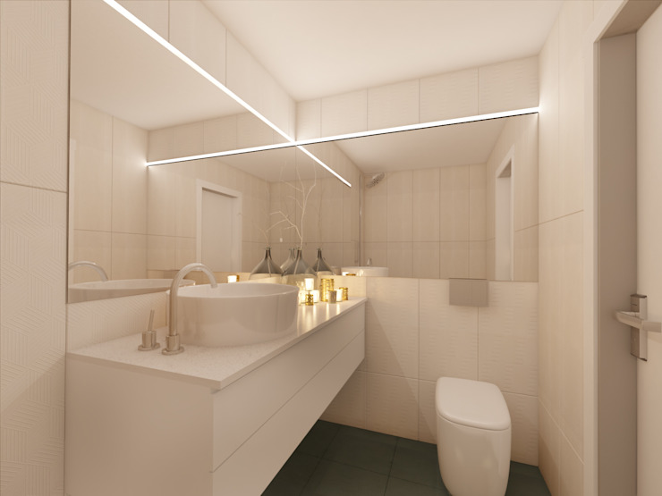 MIA arquitetos Minimalist style bathrooms