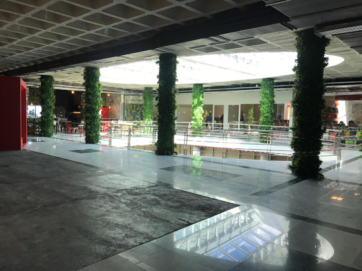 Shapping mall interior Sunwing Industries Ltd Spazi commerciali in stile tropicale Plastica Verde