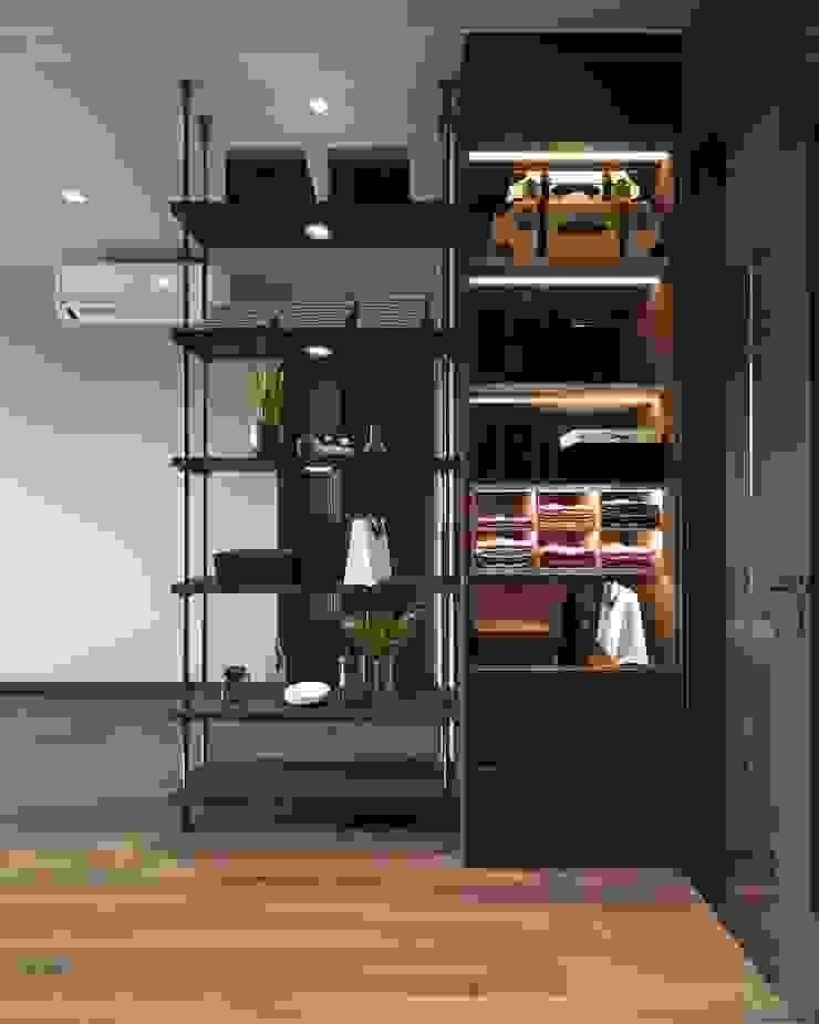 THIẾT KẾ PHONG CÁCH INDUSTRIAL MIX SUNRISE CITYVIEW Phòng ngủ phong cách công nghiệp bởi ICON INTERIOR Công nghiệp