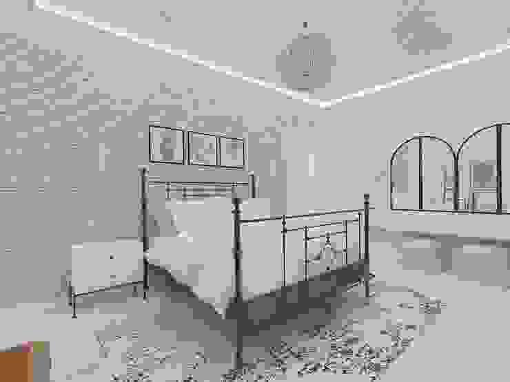 Korkuteli KÖY EVİ ASN İç Mimarlık Küçük Yatak Odası Metal Beyaz