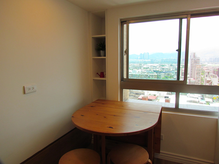 Minimalist dining room by ISQ 質の木系統家具 Minimalist