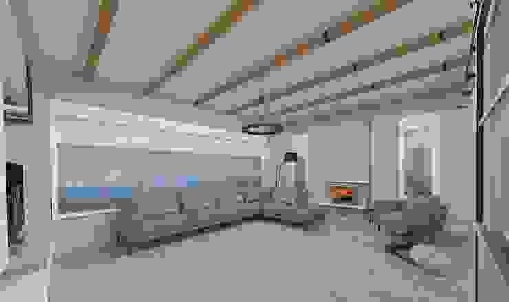 Korkuteli Köy Evi ASN İç Mimarlık Kırsal Oturma Odası Ahşap-Plastik Kompozit Beyaz