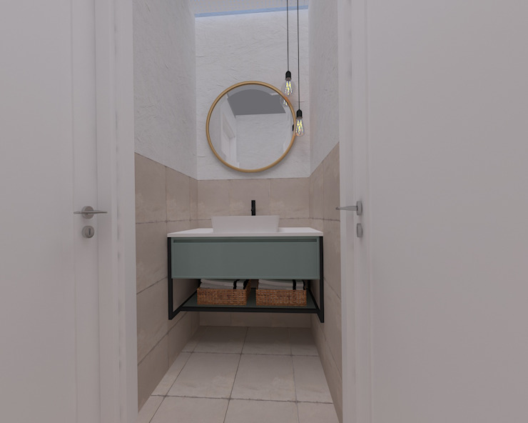 Korkuteli KÖY EVİ ASN İç Mimarlık Kırsal Banyo Seramik Bej