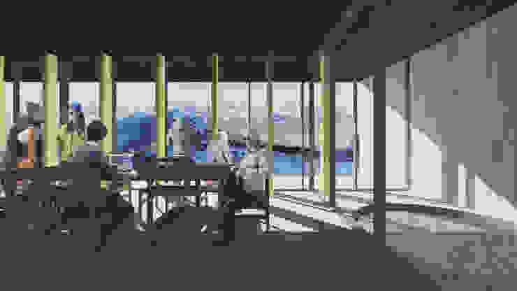 Refugio en la nieve Livings de estilo moderno de Logan Leyton Arquitectos Moderno Madera Acabado en madera