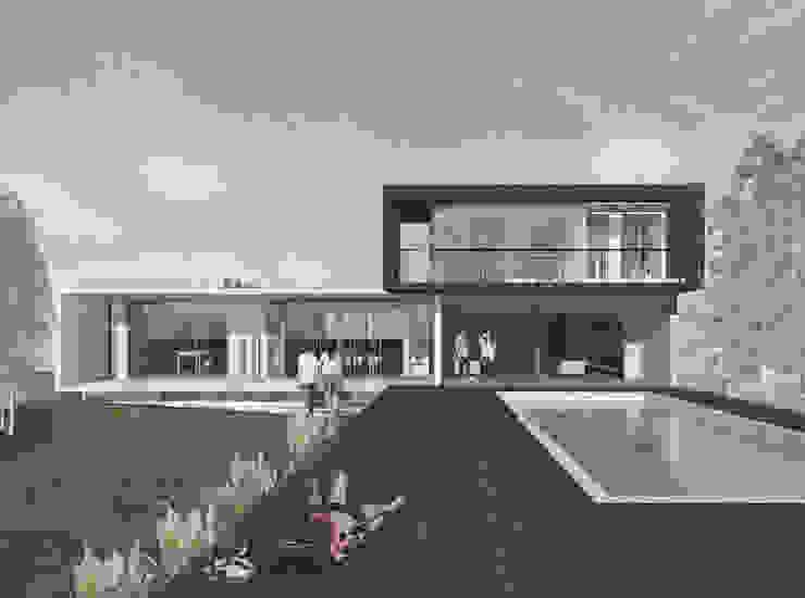 Casa Cepeda Casas estilo moderno: ideas, arquitectura e imágenes de Logan Leyton Arquitectos Moderno Concreto