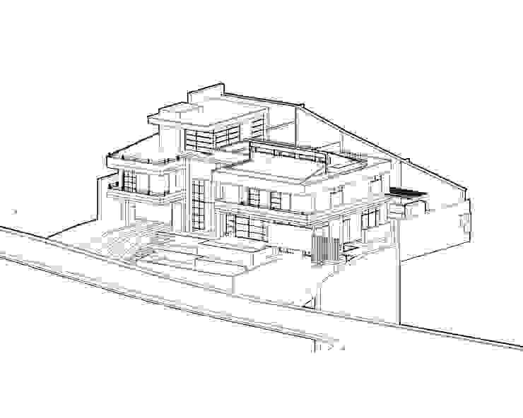 Casa 97A - Vista Axonometrica de TALLER 11 Arquitectos Moderno