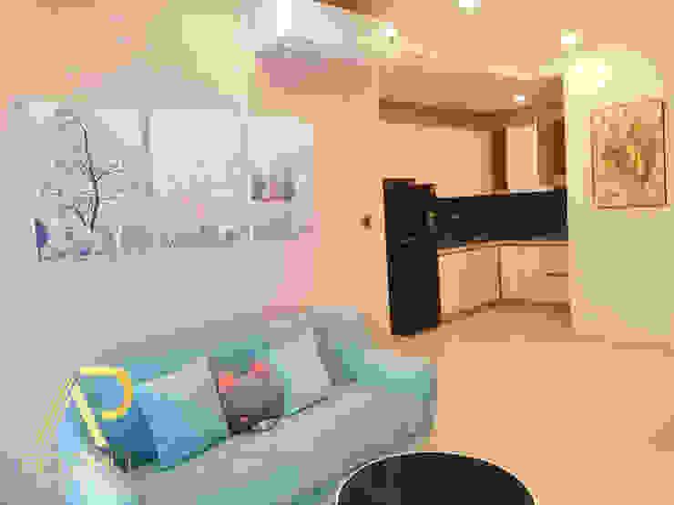 Nội thất căn hộ anh Quý dự án Saigon Royal: Châu Á  by TNHH xây dựng và thiết kế nội thất AN PHÚ CONs 0911.120.739, Châu Á