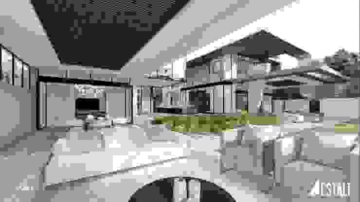 Balkon, Beranda & Teras Modern Oleh FRANCOIS MARAIS ARCHITECTS Modern