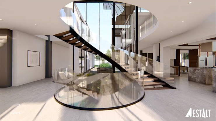 Hyde Park Luxury residence:  Stairs by FRANCOIS MARAIS ARCHITECTS,