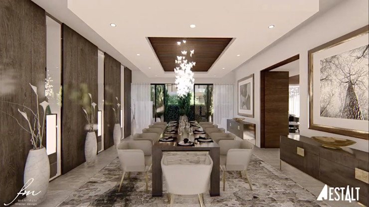 Hyde Park Luxury residence:  Dining room by FRANCOIS MARAIS ARCHITECTS,
