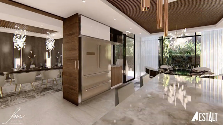Hyde Park Luxury residence:  Kitchen by FRANCOIS MARAIS ARCHITECTS,